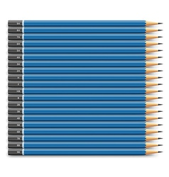 Blue pencils set vector