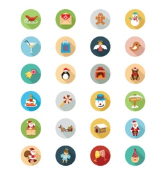 Christmas flat icons 2 vector