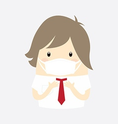 Businessman with hygiene mask vector
