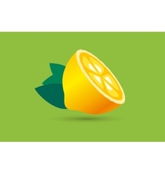 Lime or lemon fruit slice lemonade juice logo vector