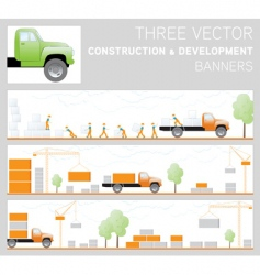 Three construction and development ban vector