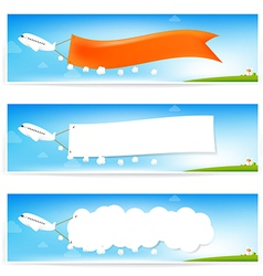 Airplane and text flag vector image vector image