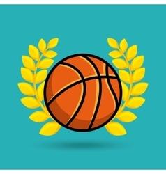 Basketball award icon vector