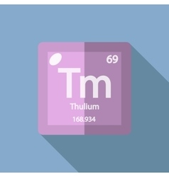 Chemical element thulium flat vector