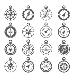 Compass icon set vector