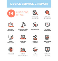 Device service repair - modern single line vector