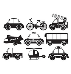 Different type of vehicles vector image vector image