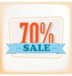 Discount labels 70 vector image