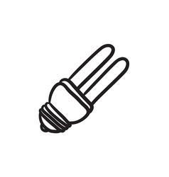 Energy saving light bulb sketch icon vector