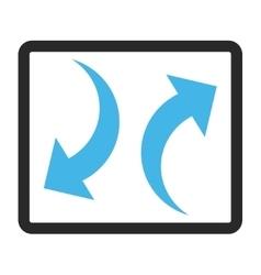 Exchange arrows framed icon vector
