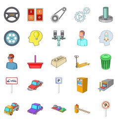 Expertise icons set cartoon style vector