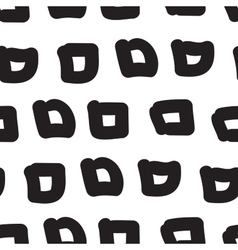 hand-painted seamless pattern with square vector image