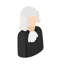 Judge isometric 3d icon vector image vector image