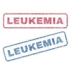 Leukemia textile stamps vector