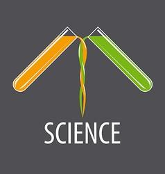 Logo two beakers with liquids vector