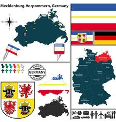 Map of mecklenburg vorpommern vector