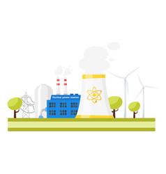 Modern nuclear power plant vector