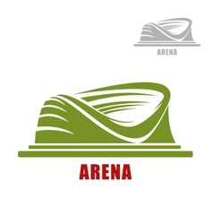 Round sport stadium or arena icon vector