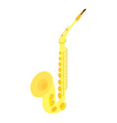 saxophone icon isometric style vector image
