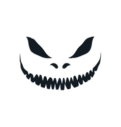 Scary face isolated on white background vector image vector image