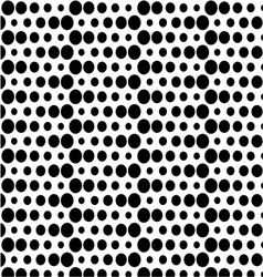 seamless polka background vector image
