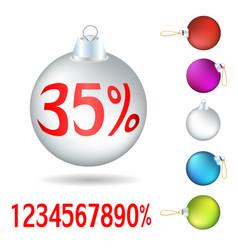 set of christmas tree balls vector image vector image