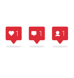 social media icons set on white background network vector image vector image