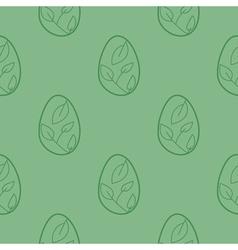 Stock easter egg background vector image
