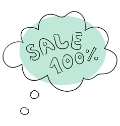 The sale vector image