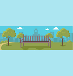 urban cityscape with park vector image vector image