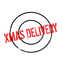 Xmas delivery rubber stamp vector