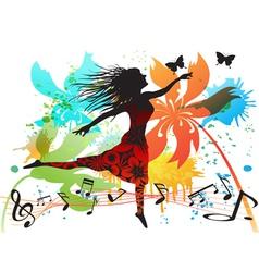 spring dancing vector image