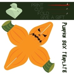Box cut in the form Pumpkin for candy on vector image
