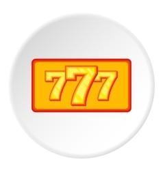 Lucky seven icon flat style vector