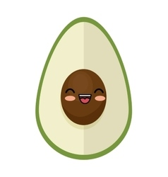 Kawaii cute avocado funny icon vector