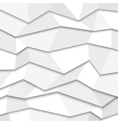 3d white paper background vector image