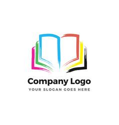 Color book logo vector