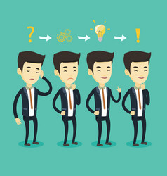 businessman during business planning vector image