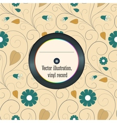 Vinyl record in the envelope vector
