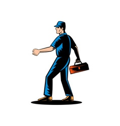 Mechanic tradesman repairman vector