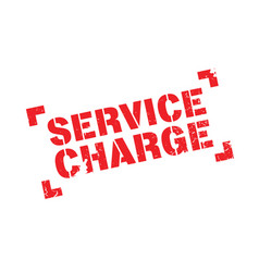 Service charge rubber stamp vector