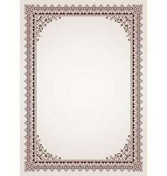 Decorative border frame background vector image