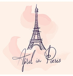 Artistic eiffel tower design vector