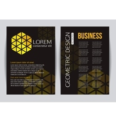 Corporate business stationery brochure template vector