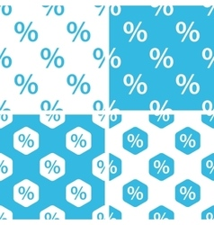 Percent patterns set vector