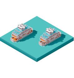 isometric ferry vector image