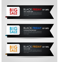 Banners black friday sale vector