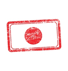 Japan flag red grunge rubber stamp vector