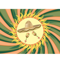 Sombrero and maracas3 vector