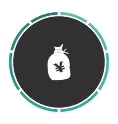 Yen bag computer symbol vector